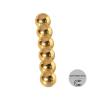 Магнит шар D 5мм (комплект 6шт) золото
